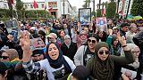 آلاف المغاربة يتظاهرون بالعاصمة الرباط لدعم معتقلي حراك الريف