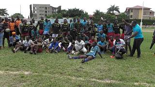 Burundi Rugby à XV : Résultats match amical international entre le club Hyène (noir-rouge) de Bujumbura-Burundi et Jaguar (bleu-blanc) de Bukavu-République Démocratique du Congo (RDC)
