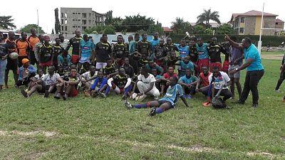 Burundi Rugby à XV : Résultats match amical international entre le club Hyène (noir-rouge) de Bujumbura-Burundi et Jaguar (bleu-blanc) de Bukavu-République Démocratique du Congo (RDC)