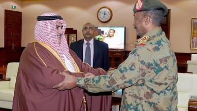 During FM reception, head of Sudan's transitional military council praises HM the King's stance supporting Republic of Sudan