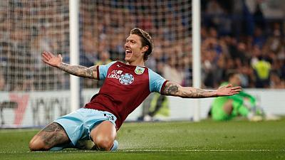 Chelsea held 2-2 by Burnley, denting Champions League hopes