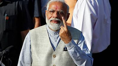 Indian PM Modi votes in third phase of mammoth general election