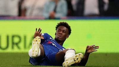 Chelsea's Hudson-Odoi confirms season over due to Achilles injury