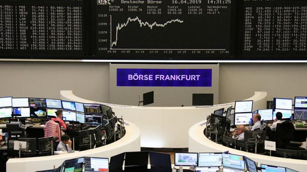 European shares fall as earnings kick in, Umicore weighs