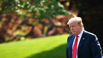 Donald Trump le 18 avril 2019 à la Maison Blanche