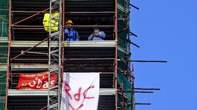 Reddito, finita protesta su campanile