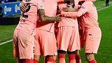 برشلونة على وشك حسم لقب الدوري الاسباني عقب الفوز على الافيس