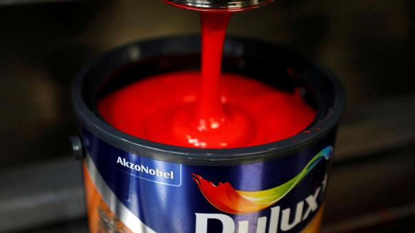 Akzo Nobel first-quarter core profit up 19 percent on higher prices