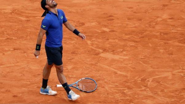 Tennis: Fognini déclare forfait à Barcelone après son titre à Monte-Carlo