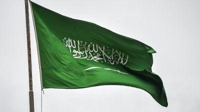 Le drapeau de l'Arabie saoudite, le 17 octobre 2018 à Istanbul