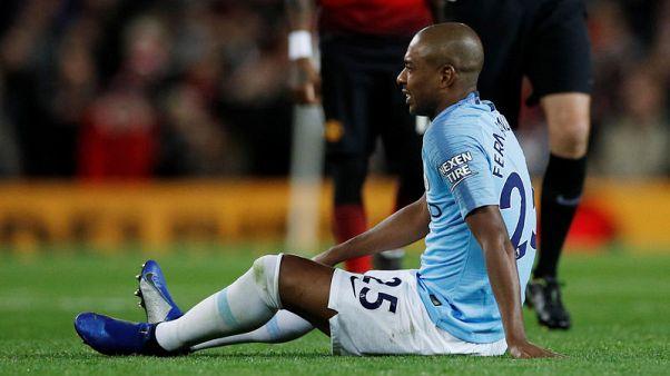Man City's Fernandinho facing knee injury scan