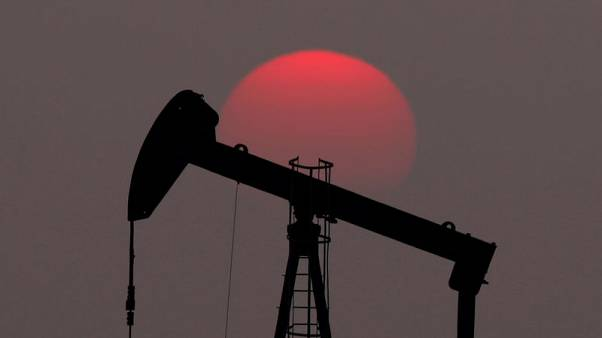 Oil prices fall as soaring U.S. supply offsets tighter Iran sanctions