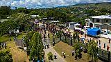 Des manifestants devant le Parlement à Honiara, le 24 avril 2019