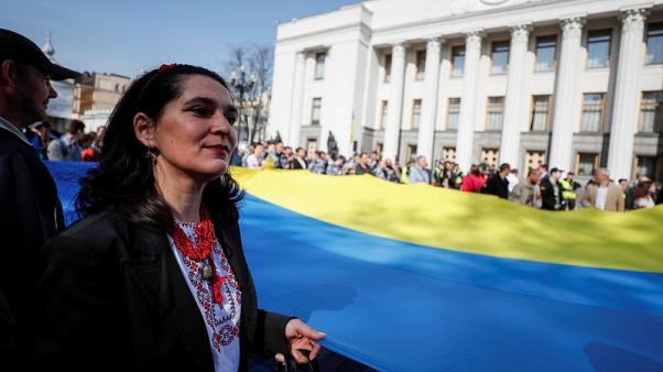 Ukraine passes language law championed by outgoing president