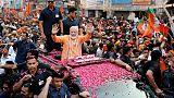 Huge crowds greet India's Modi in his sacred city seat