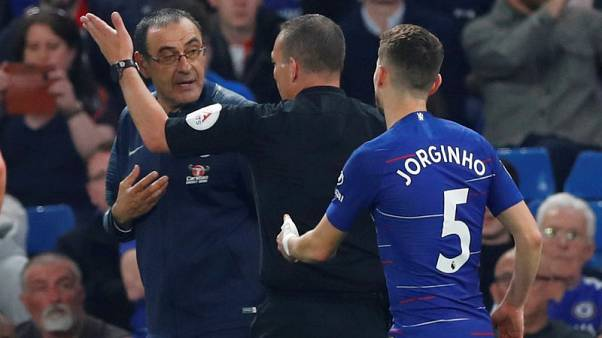 Chelsea's Sarri fined after accepting misconduct charge