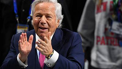 Owner of NFL's Patriots wants Florida judge to toss prostitution sting video