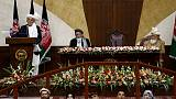 Afghan president urges new lawmakers to participate in peace process