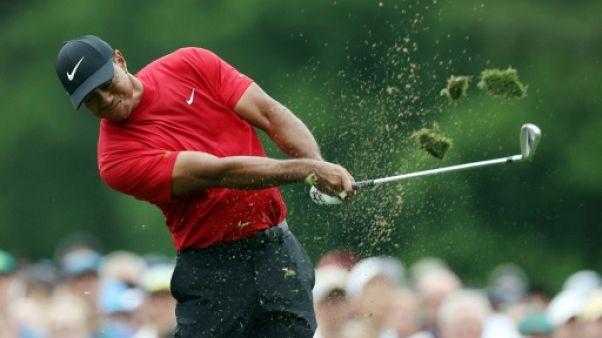 L'Américain Tiger Woods lros du Masters d'Augusta le 14 avril 2019