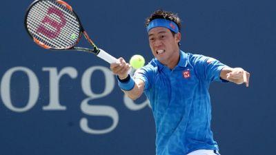 Le Japonais Kei Nishikori lors de l'US Open le 30 août 2016