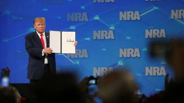 Trump heeds NRA, decides to pull U.S. out of U.N. arms treaty