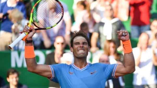 L'Espagnol Rafael Nadal lors du tournoi de Monte-Carlo le 19 avril 2019