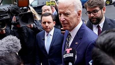Under fire, former U.S. V.P. Biden says he did not treat Anita Hill badly