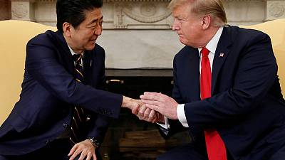 Trump says sees possibility of U.S.-Japan trade deal by May