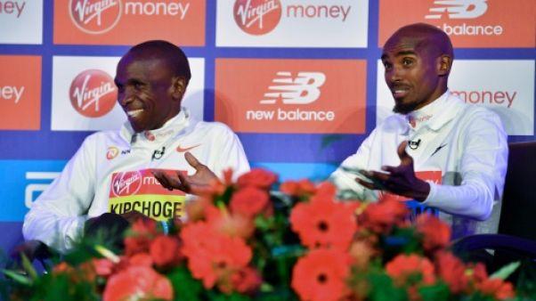 """Marathon de Londres: """"Sir"""" Mo Farah peut-il inquiéter le """"King"""" Eliud Kipchoge ?"""