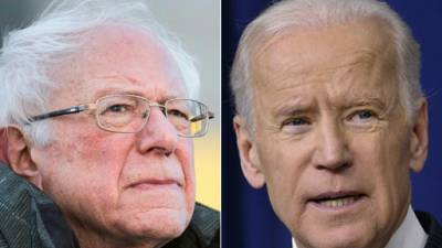 Les candidats démocrates Bernie Sanders et Joe Biden