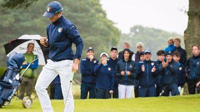 Golf, l'esultanza di Romano