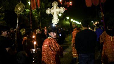 """La Grèce célèbre la Pâque orthodoxe, après le """"calvaire"""" de l'austérité"""