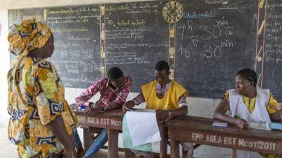 Un bureau de vote à Cotonou, le 28 avril 2019