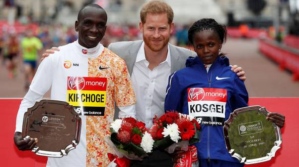 Imperious Kipchoge wins in London again as Kosgei upsets favourites