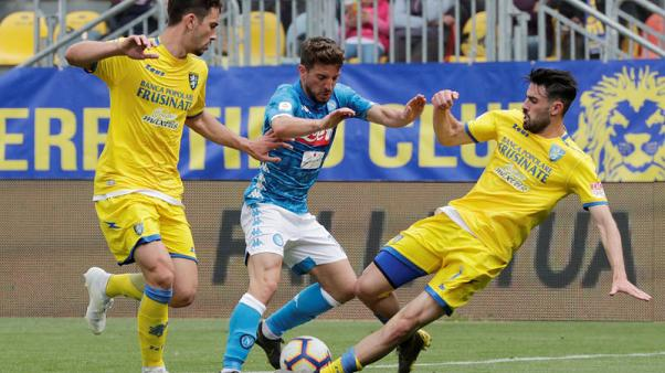 Napoli return to form with victory to send Frosinone towards the drop