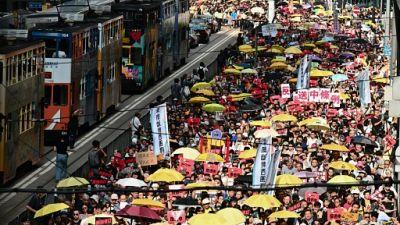 Hong Kong: forte mobilisation contre le projet d'extradition vers le continent