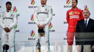 F1: doublé de Mercedes avec Bottas devant Hamilton en Azerbaïdjan