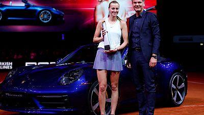 Kvitova earns maiden Stuttgart title with win over Kontaveit