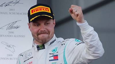 Bottas leads championship after one-two win in Baku
