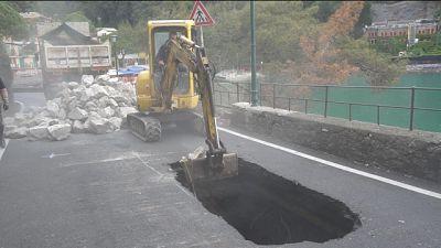 Iniziati lavori su strada Portofino