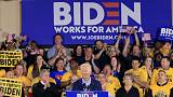 At first 2020 event, Biden sets up battle with Trump over union vote