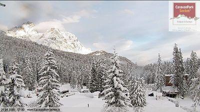 Colpo di coda dell'inverno su Dolomiti