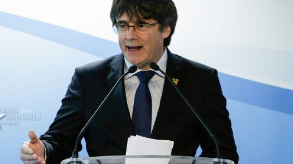 L'ancien président catalan Carles Puigdemont à Bruxelles, le 10 avril 2019