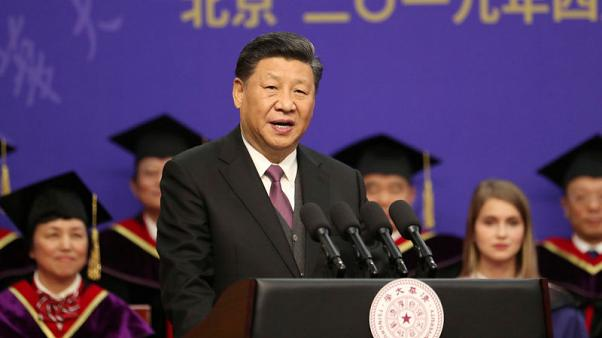 China's Xi appeals to youth patriotism on centenary of student protests
