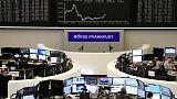 الأسهم الأوروبية تنخفض مع استمرار المخاوف بشأن النمو