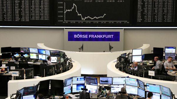 European shares fall as growth worries linger; AMS rises