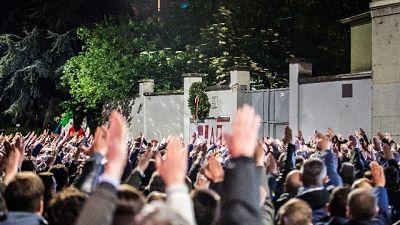 Pm Milano, manifestazione fascista