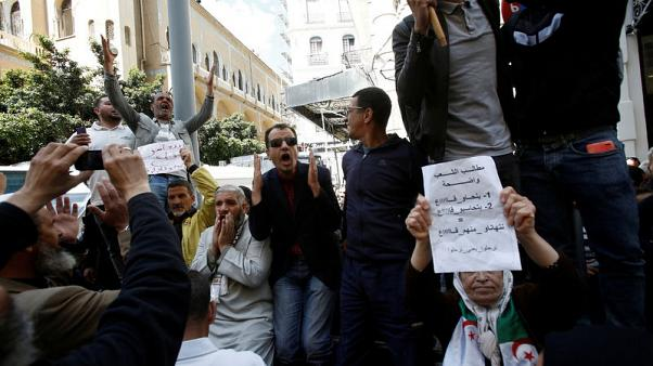 Algeria's ruling party names relatively young new leader amid protests