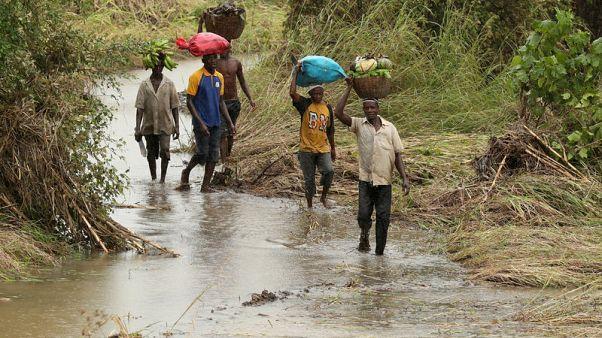 تواصل هطول الأمطار الغزيرة المصاحبة للإعصار على مناطق في موزامبيق