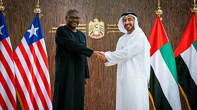 H.H. Sheikh Abdullah bin Zayed receives Minister of Foreign Affairs of Liberia